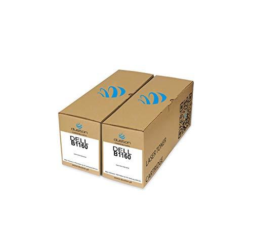 2X B1160, 593-11108 Toner negro regenerado Duston compatible con...