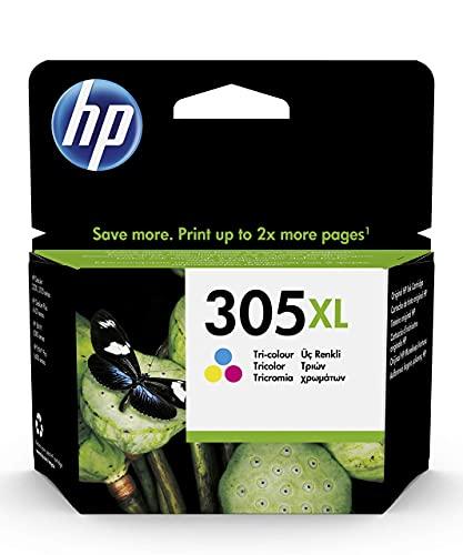 HP 305XL 3YM63AE, Tricolor, Cartucho de Tinta de Alta Capacidad...