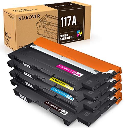 STAROVER 117A (con Chips) Cartuchos de Tóner compatibles, Tóner...