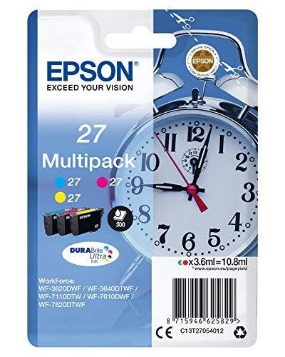 Epson 27 DURABrite Ultra - Cartucho de tinta para impresoras...