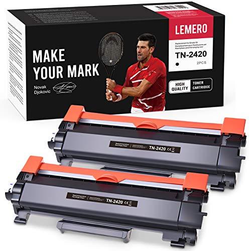 2 LEMERO Toner Compatible para Brother TN-2420 TN2420 TN-2410...