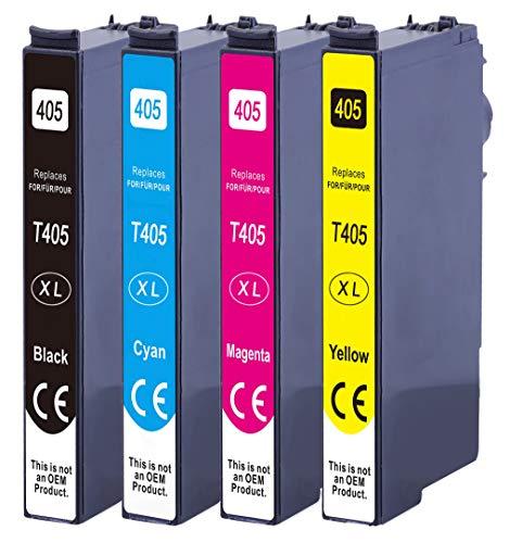 Druckerparadies Compatible con Epson 405XL Epson 405 cartuchos de...