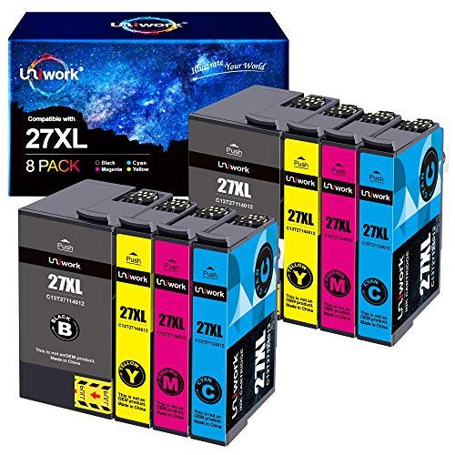 Uniwork 27XL Cartuchos de Tinta Reemplazo para Epson 27 27XL...