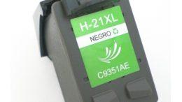 cartucho de tinta hp21xl compatible con impresoras hp