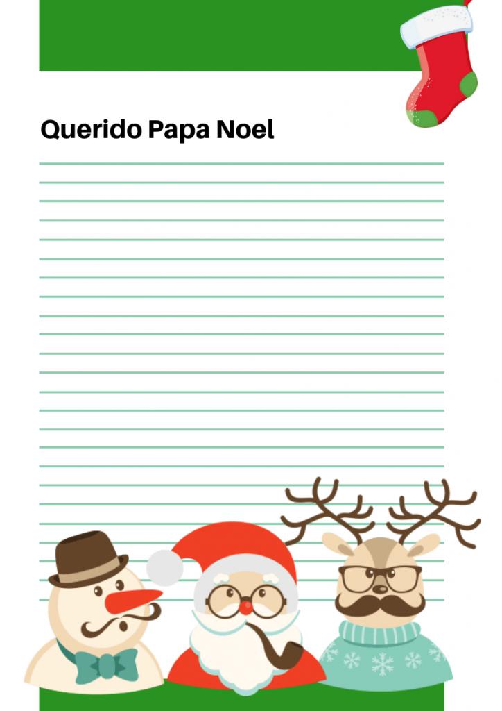 carta a los papa noel para imprimir