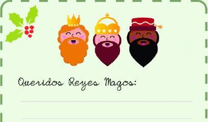 Fotos Papa Noel Reyes Magos.Cartas A Papa Noel Y Los Reyes Magos Para Imprimir