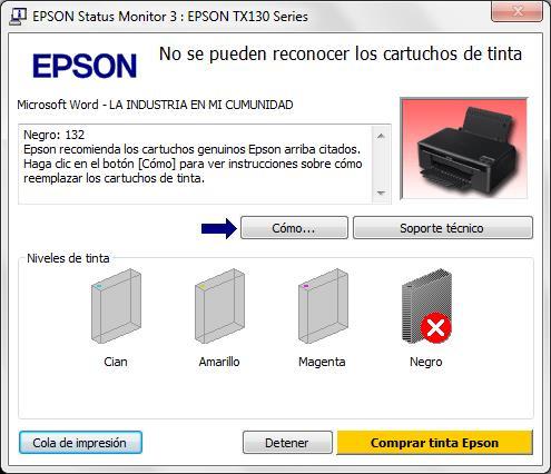 ▻ Epson no reconoce cartuchos compatibles - A4toner