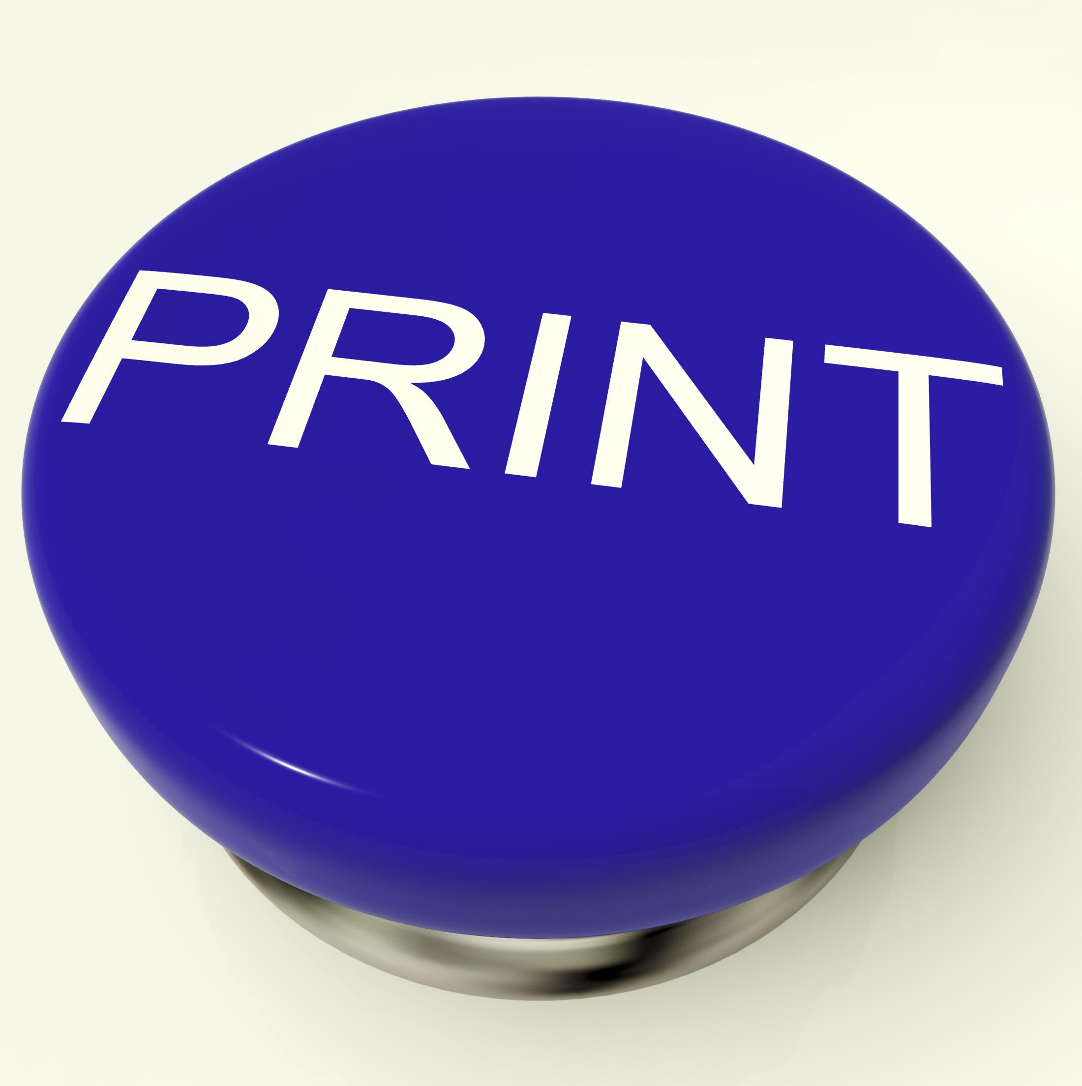 print button as symbol for printing or printer z1vXzrPu