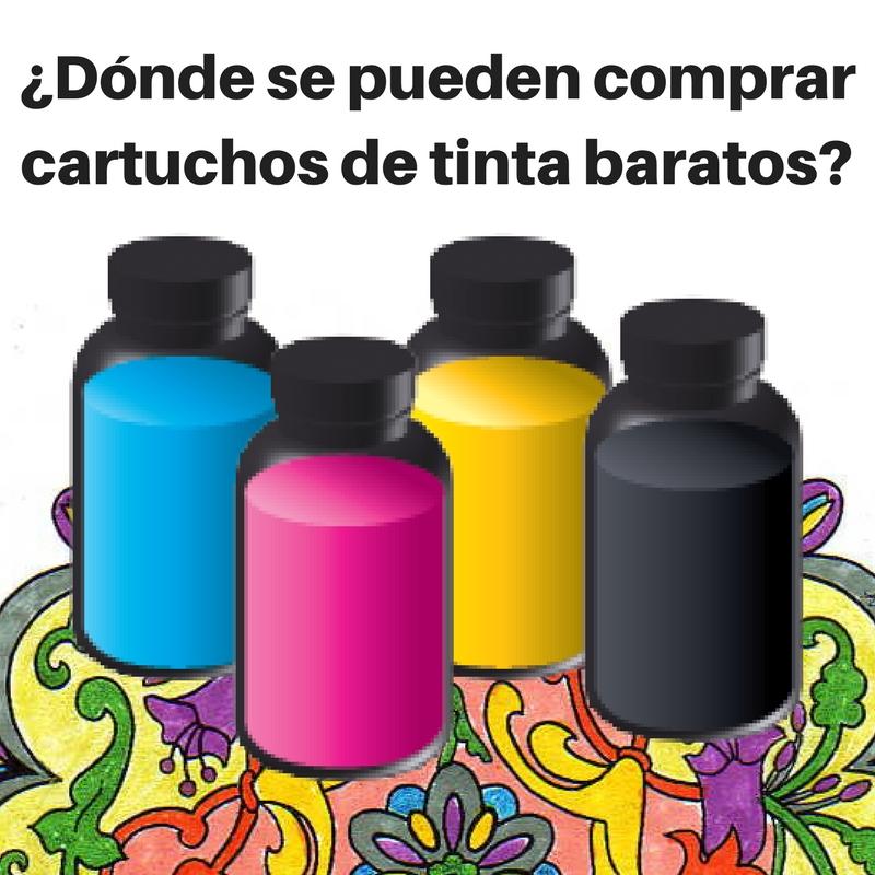 ¿Dónde se pueden comprar cartuchos de tinta baratos