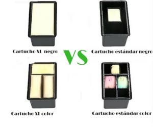 cartuchoxl vs cartucho de tinta normal