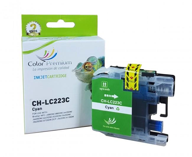Cartucho de tinta LC223 compatible cían