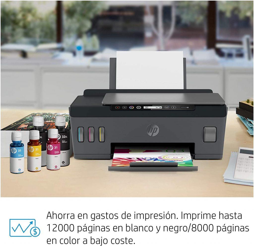 HP Smart Tank Plus 555 - Impresora multifunción (imprime, copia y escanea desde el móvil)