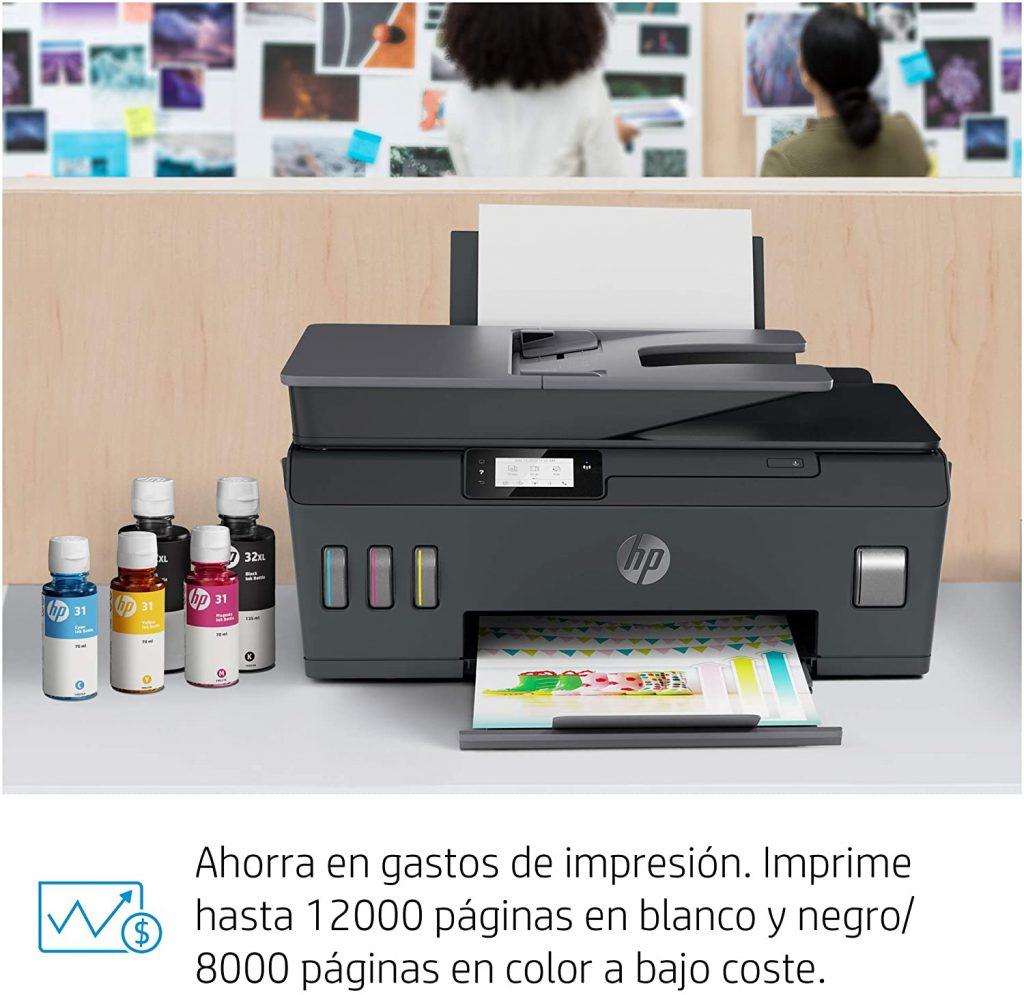 HP Smart Tank Plus 655 - Impresora multifunción inalámbrica (imprime, copia y escanea desde el móvil), Fax, Bluetooth, conectividad Wi-Fi,