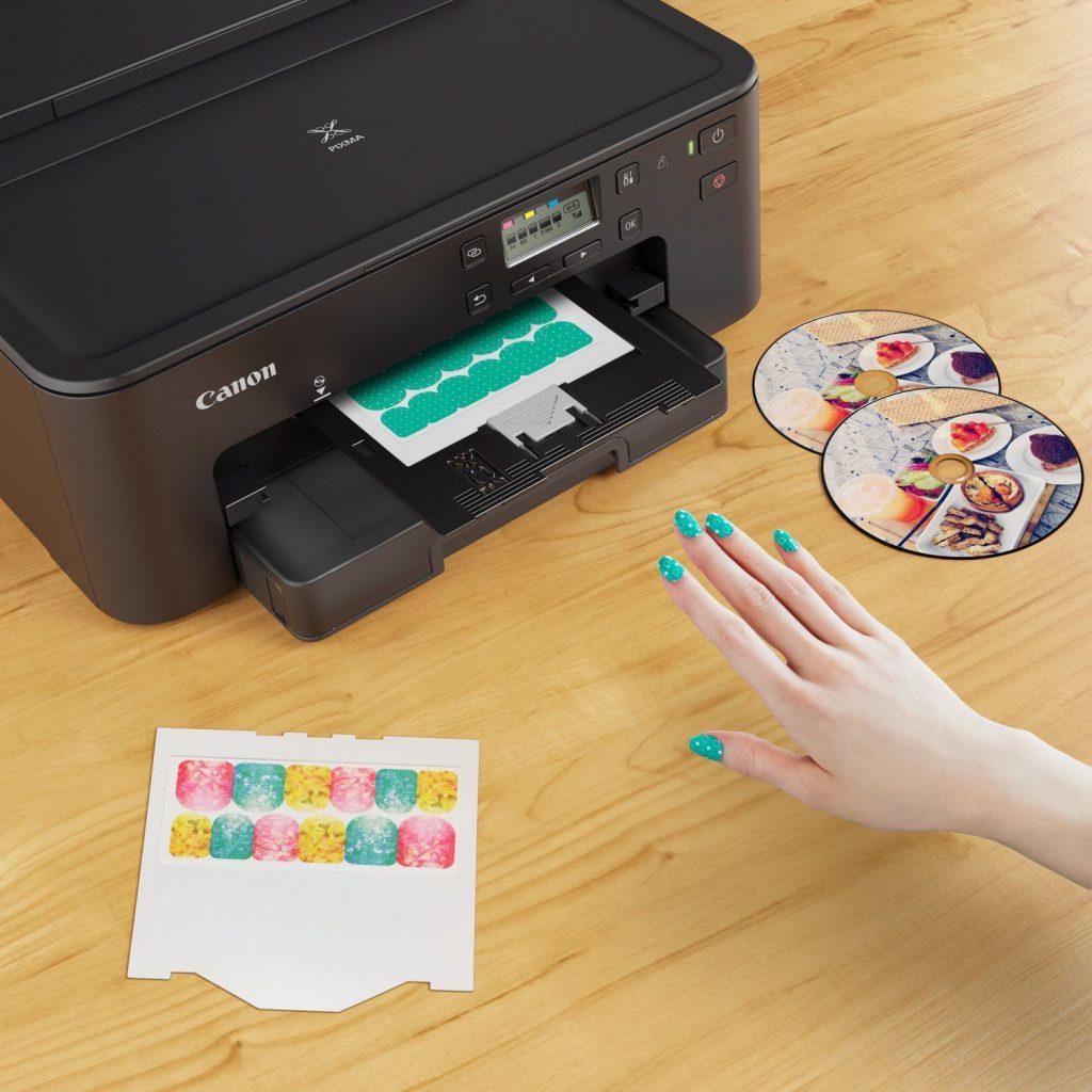 Pegatinas para uñas imprimibles canon ts705