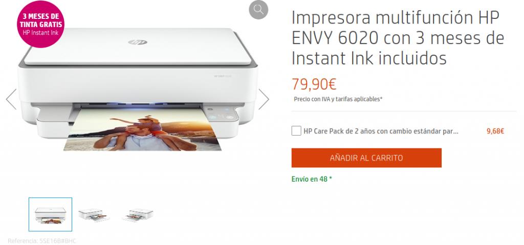 Precio Impresora multifunción HP ENVY 6020