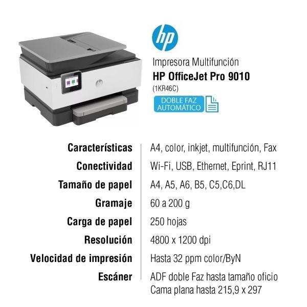 HP OfficeJet Pro 9010 caracteristicas