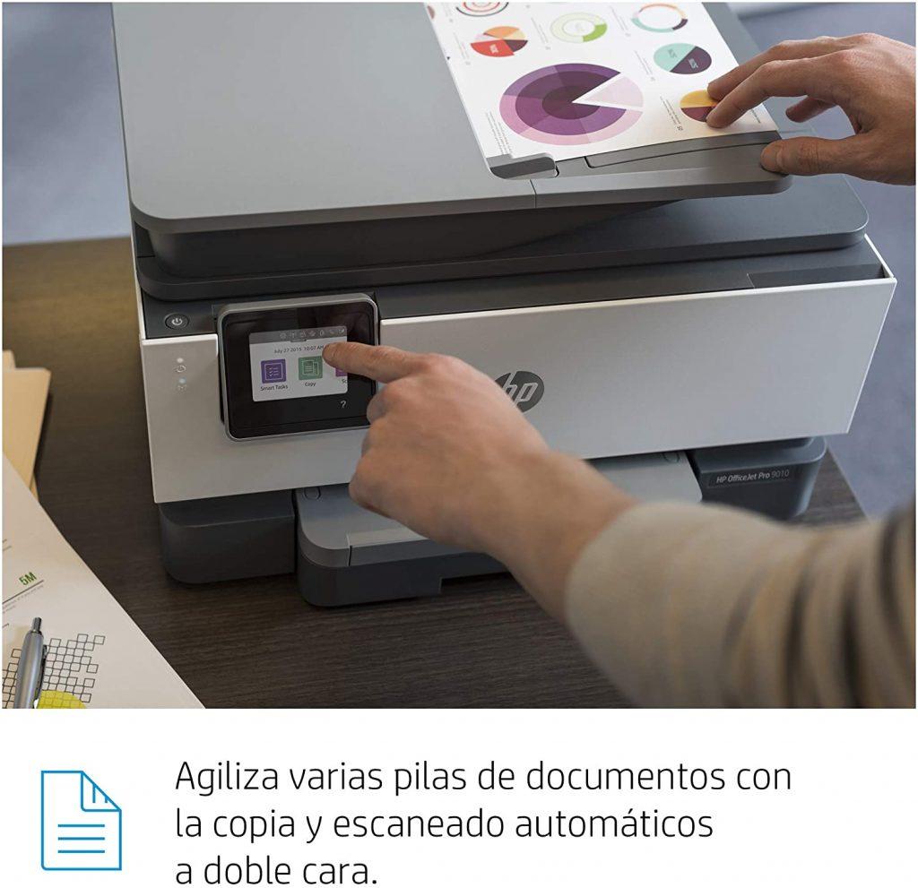 HP OfficeJet Pro 9010 escaneado adf a doble página