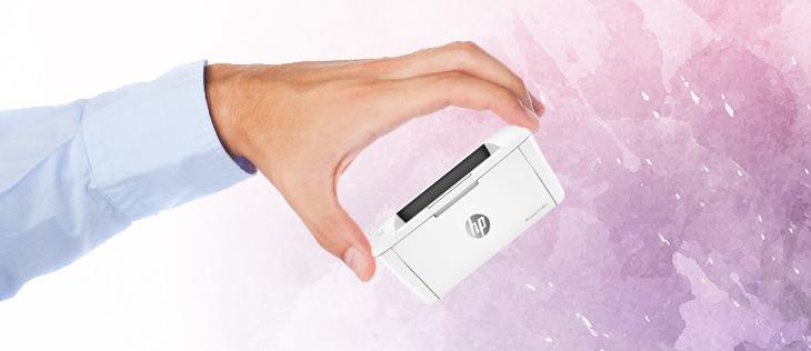 Impresora HP LaserJet Pro M15w pequeña