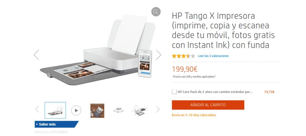 Precio Tango X Impresora