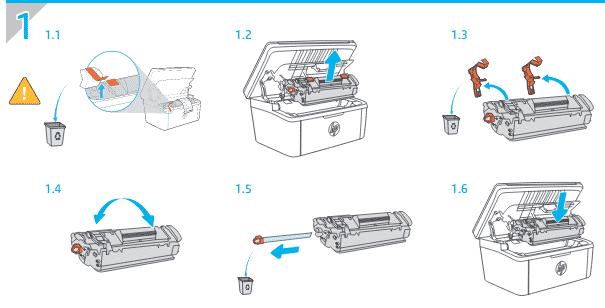 Como cambiar el toner en HP LaserJet Pro MFP M28W