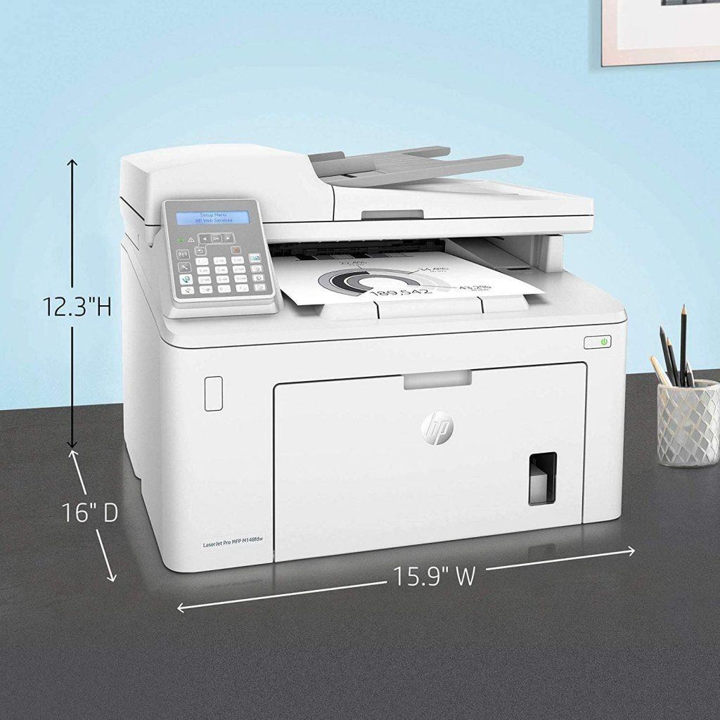 impresora m148fdw tamaño