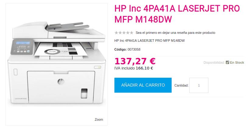 Precio LASERJET PRO MFP M148DW