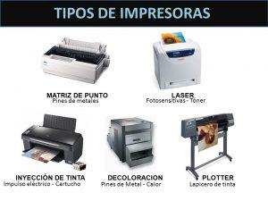 ¿Cuáles son los tipos de impresoras que existen?