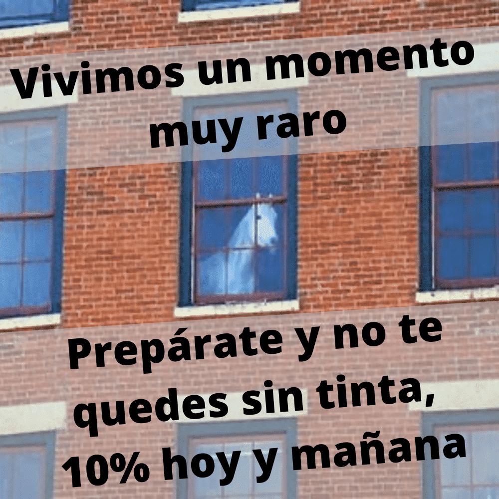10% hoy y mañana