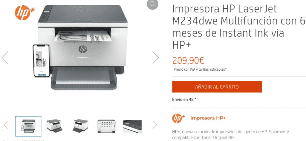 Precio Impresora HP LaserJet M234dwe