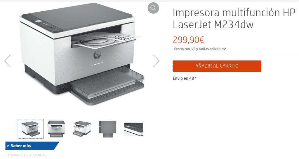 Precio Impresora multifunción HP LaserJet M234dw